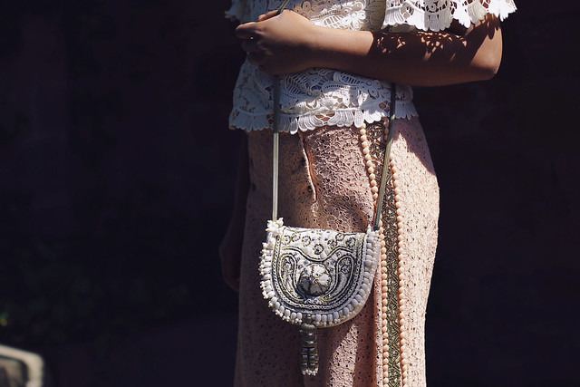 H&M CONSCIOUS EXCLUSIVE BEADED BAG, DRIES VAN NOTEN