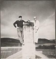 Ombygging på Falstad (ca. 1950) / Rebuilding at Falstad (ca. 1950)