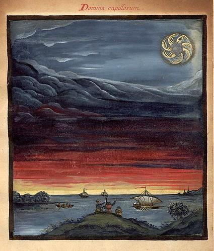 007- Domina Capillorum-El sol-Kometenbuch -1587-Universitätsbibliothek Kassel