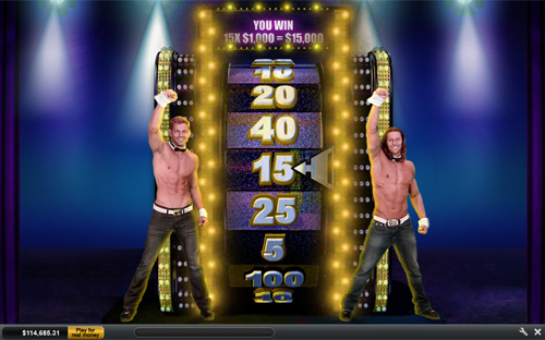 free Chippendales sizzling bonus