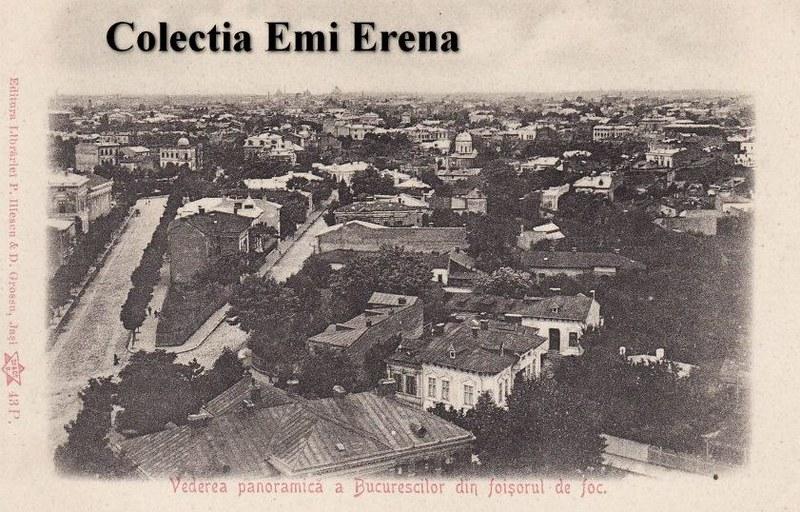 Bucuresti- vedere din Foisorul de foc, aprox 1900