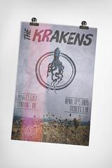 The Krakens gig poster design tutorial