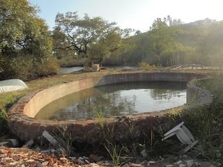 Water harvesting structure in Dr. John's Khazan Land