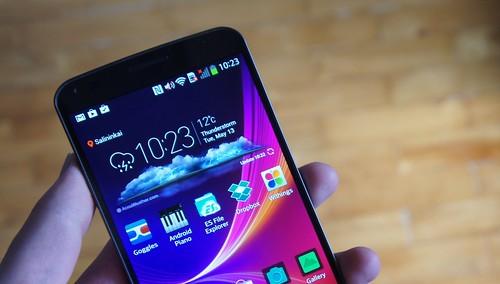 LG G Flex Android telefonas tiktų statybininkams...