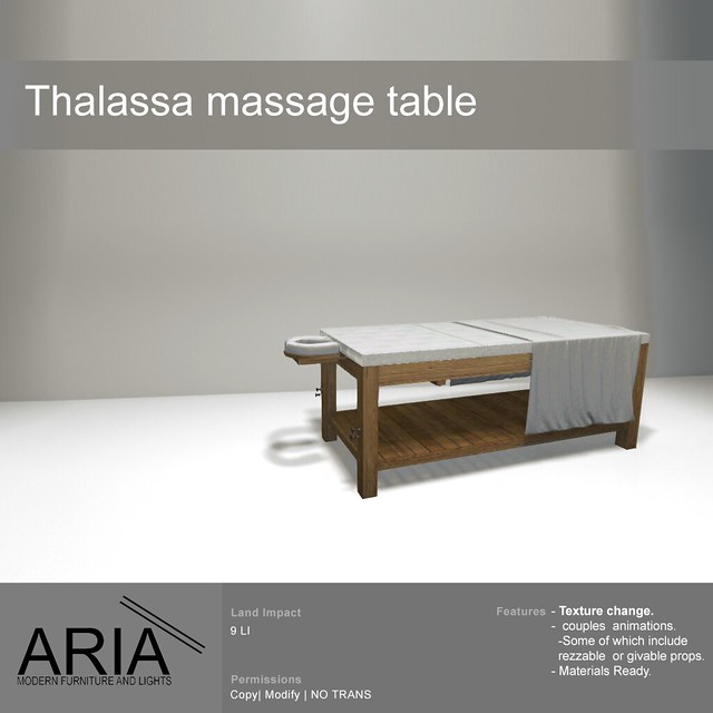 Thalassa massage table -PG- @ TMD