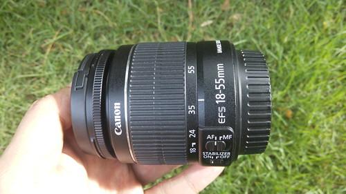 Lens kit 18-55mm F3.5-5.6 ที่มาพร้อมกับ Canon EOS1200D