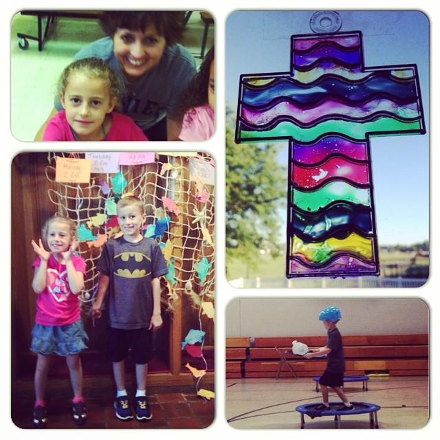 I'm a day late, but here is Day 5 of VBS! What a fun week! Love these kids!!