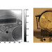 A wristwatch was one of the first items imaged by the new proton radiography system.  At left the inner workings of the mechanism are visible.