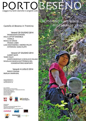 PORTOBESENO festival 2014 ALPSOUND > comporre con i paesaggi sonori