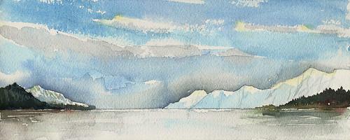 Mountains and glaciers, Prince William Sound, Alaska