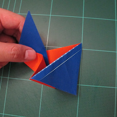 การพับกระดาษเป็นรูปเรือใบ (Origami Sail Boat) 005