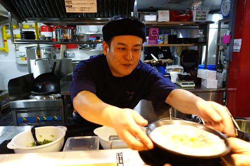 Chef Kousuke Yoshimura serving up ramen at Hakata Ikkousha, CHIJMES