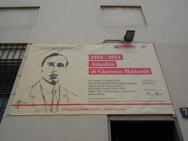 Attualità di Giacomo Matteotti, fondazione Kuliscioff,  inaugurazione e conferenza stampa, palazzo Sormani, Milano