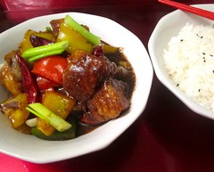 STIR FRIED SEA BASS IN BLACK BEAN SAUCE    @ Home by Hans susser