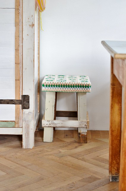 wood & wool stool doris