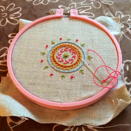 Pink French Knots