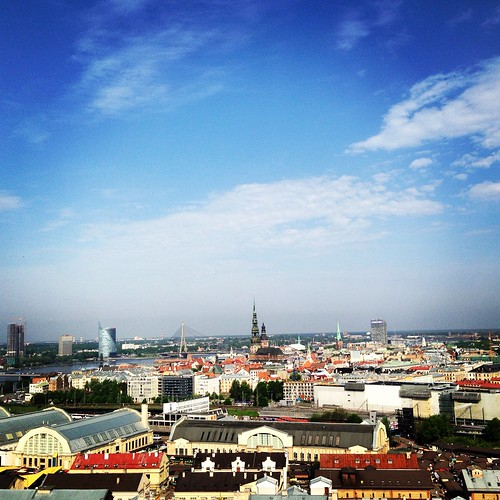 Riga Akademie der Wissenschaften Panoramablick vom 17 Stock