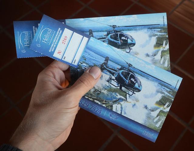 Tickets de acceso al vuelo en helicóptero por las cataratas de Iguazú