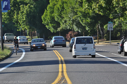 N Willamette Blvd bike lanes-1