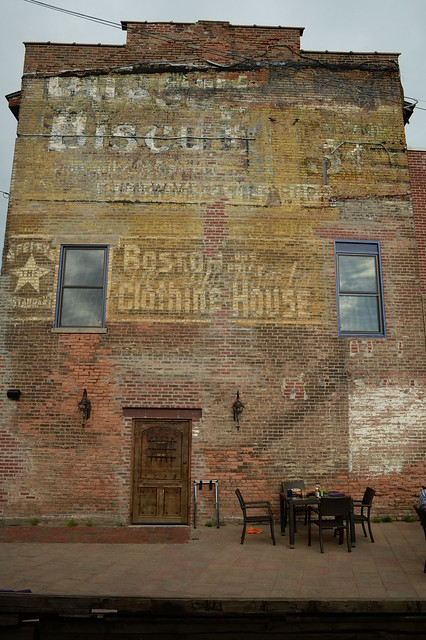 Uneeda Biscuit ghost sign at Mexican Radio restaurant, Schenectady