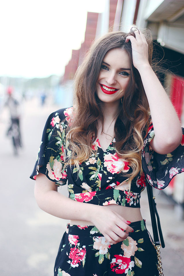 Miss Selfridge Floral Co-Ord Seventies Inspired Look