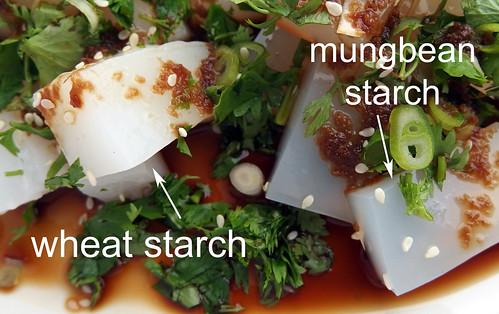 Liang fen maken met tarwezetmeel of mungbonenzetmeel