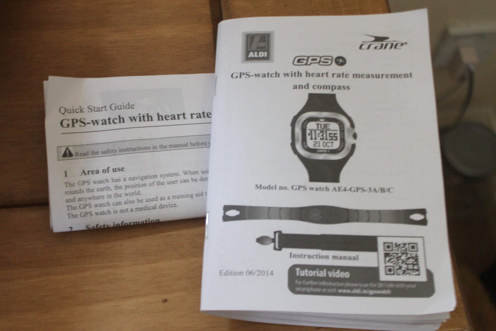 Aldi GPS watch manual