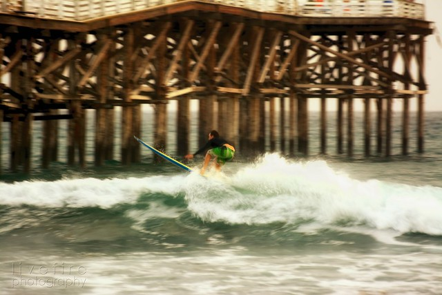 Surfing the pier