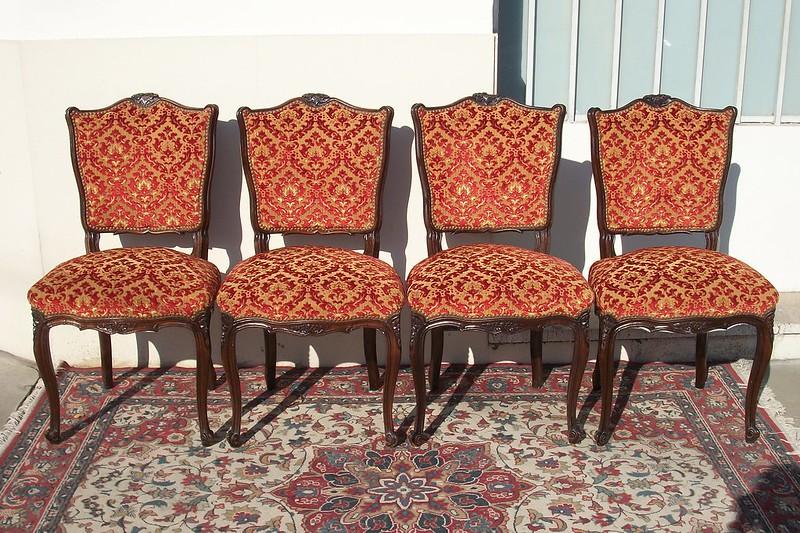 Antiguas sillas estilo luis xv frances sala living comedor for Sillas living modernas