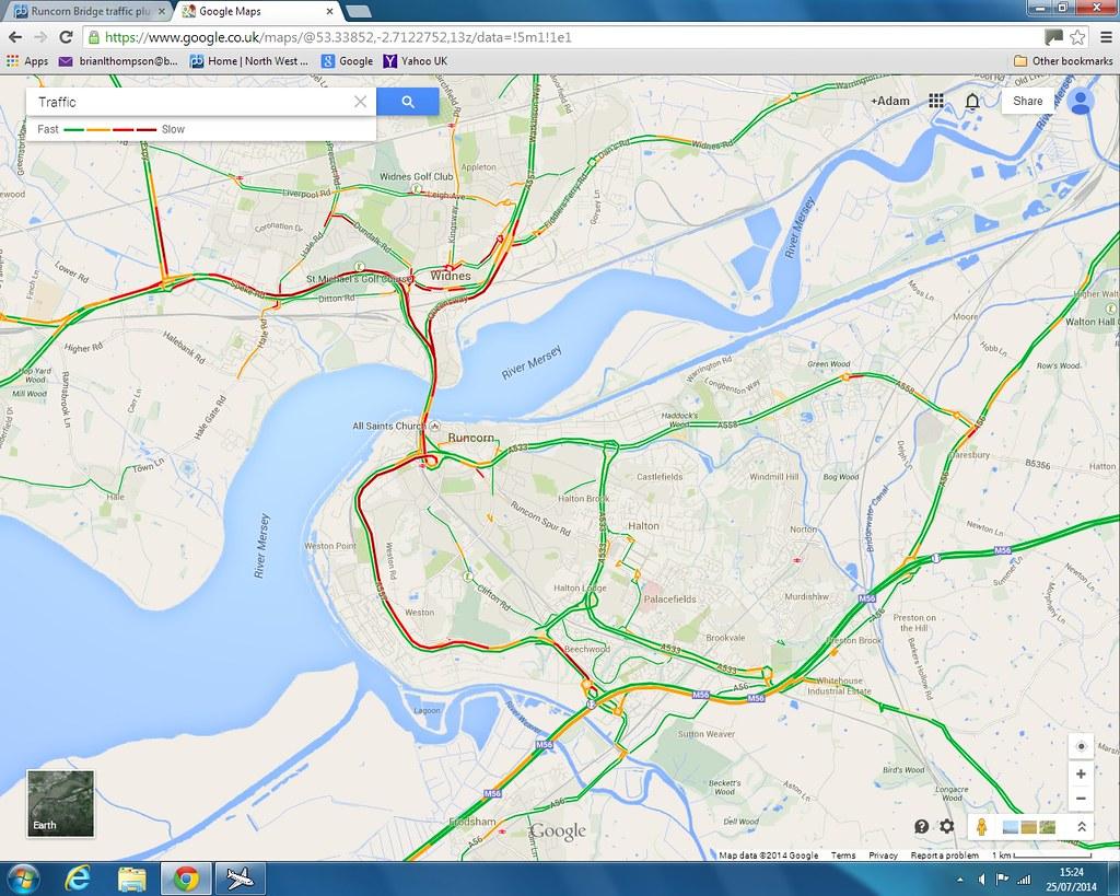 Runcorn Bridge traffic pluswarning North West Air News