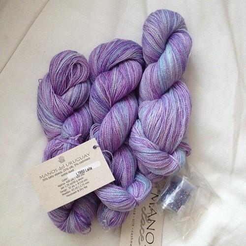 #manosdeluruguay #lace #purple #earthfaire #beads #pointeshoespunkrockandpurl