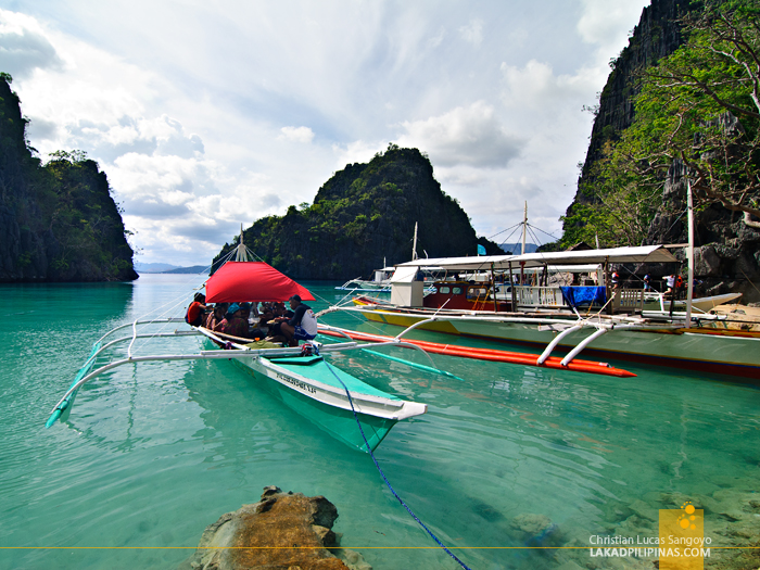 Kayangan Lake Docking at Coron Island