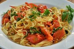 linguine(0.0), fettuccine(0.0), produce(0.0), carbonara(0.0), vegetable(1.0), mie goreng(1.0), fried noodles(1.0), lo mein(1.0), spaghetti alla puttanesca(1.0), bucatini(1.0), spaghetti(1.0), pasta(1.0), clam sauce(1.0), spaghetti aglio e olio(1.0), pasta pomodoro(1.0), naporitan(1.0), food(1.0), dish(1.0), chinese noodles(1.0), capellini(1.0), cuisine(1.0), chow mein(1.0),