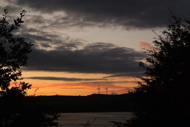 Sunset over Carsington Water