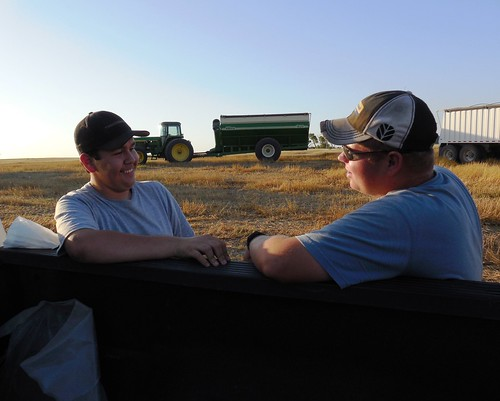 Justin and Matt conversing