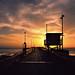 venice pier sunset. 2012.