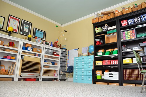 Montessori Homeschool Classroom (Photo from What DID We DO All Day)