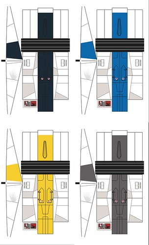 A-Wing Rainbow Squadron Stickers
