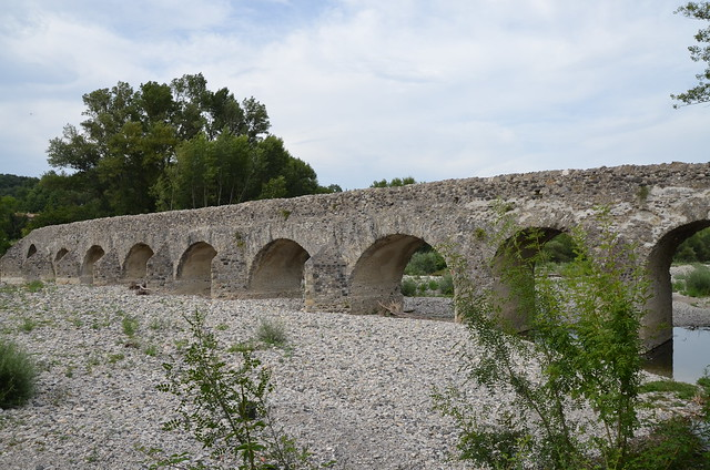 Pont romain de Viviers, 2nd century AD Roman bridge crossing the river Escoutay, France