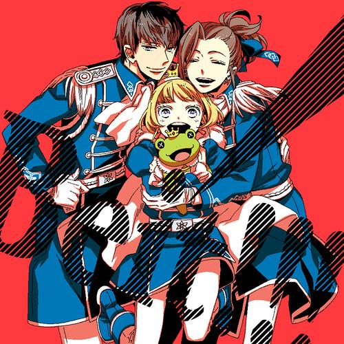 140727 - TOP繪神兵...漫畫家「星野リリィ」在24日:《偶像大師 SideM》Beit 三人組的快樂合照!