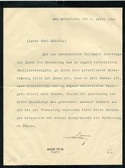 048. Zita királyné meghatalmazása gróf Cziráky József számára a királyi család vagyonának kezeléséről