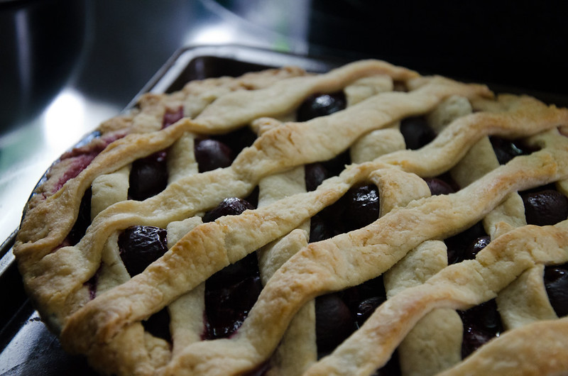 my first cherry pie!