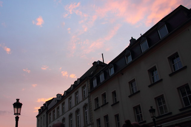 Sunset over Luxembourg