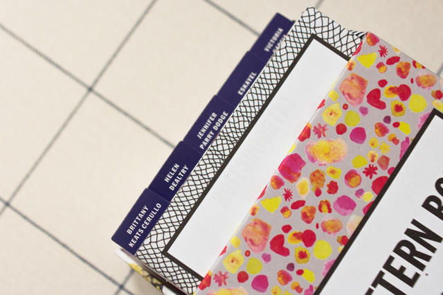 pattern box - index cards