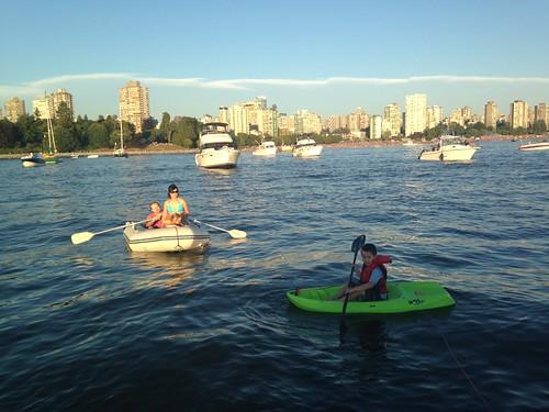 Scott on his kayak