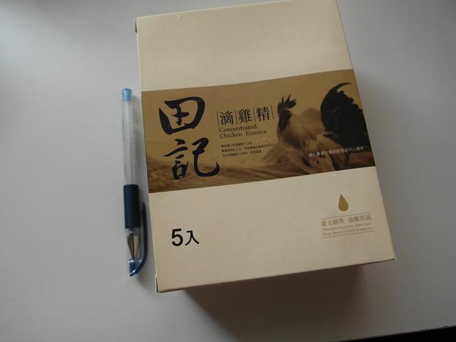 單盒包裝的比例尺@田記滴雞精