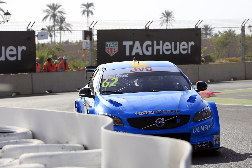 62 BJORK Thed (swe) Volvo S60 Polestar team Polestar Cyan Racing action during the 2017 FIA WTCC World Touring Car Race of Morocco at Marrakech, from April 7 to 9 - Photo Paulo Maria / DPPI