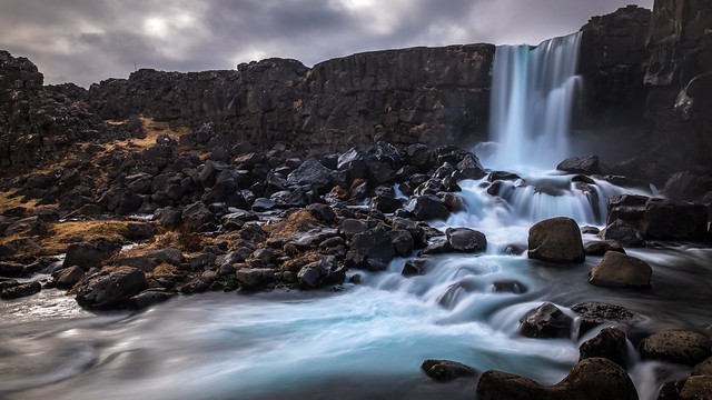 Oxararfoss waterfall - Thingvellir, Iceland - Travel photography