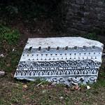 Lanuvium 11: fragment of marble pediment entablature