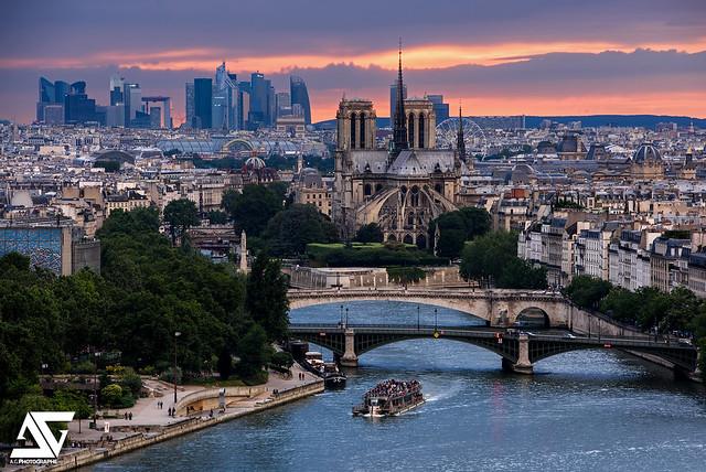 Fin de journée sur Paris
